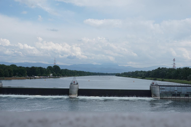 Rheinbrücke in Breisach-Blick in die andere Richtung