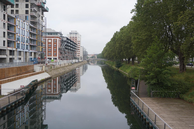 Beginn des Rhein-Rhone Kanals in Straßburg