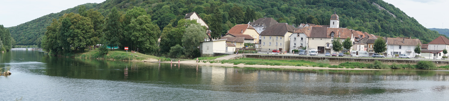 Clerval (an der Doubs) Panoramabild