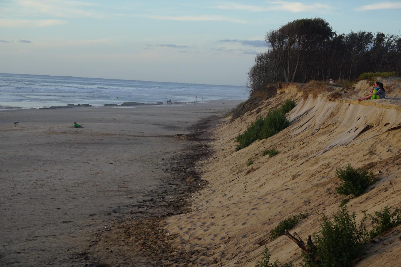 Strand mit direktem Zugang vom Zeltplatz