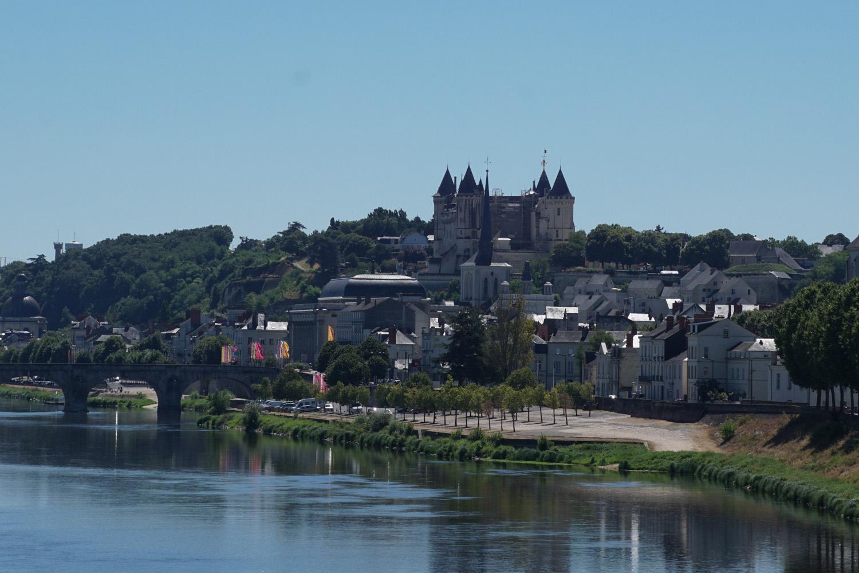 Blick zurück auf Saumur