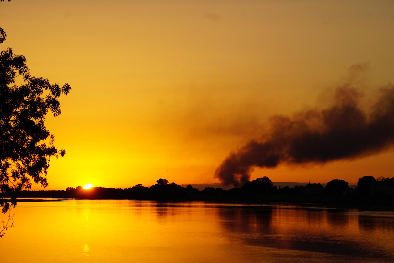 Sonnenuntergang in Saint-Mathurin-sur-Loire