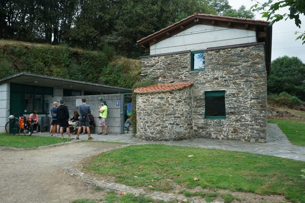 Ankunft in Pilgerherberge
