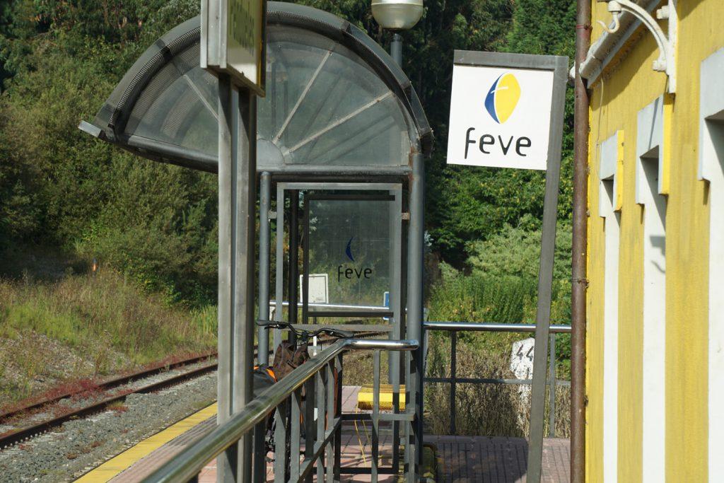 Bahnhof in Pendueles, Schmalspurbahn nach Orviedo