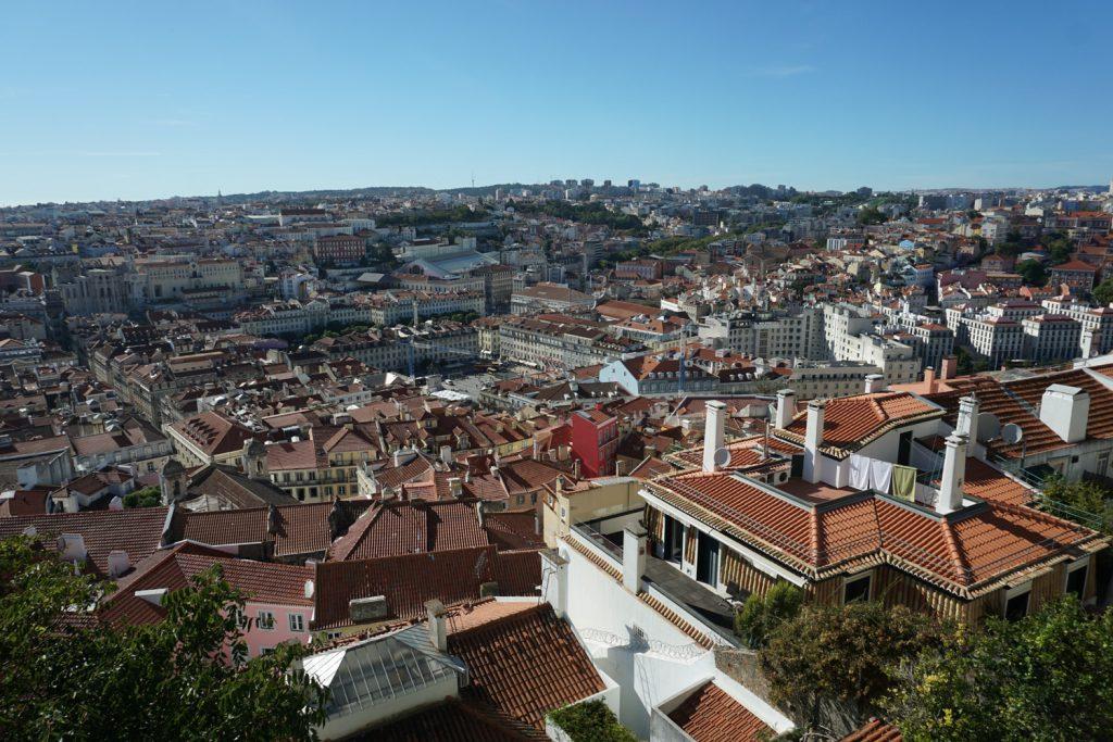 Ausblick auf Lisssabon von der Burg