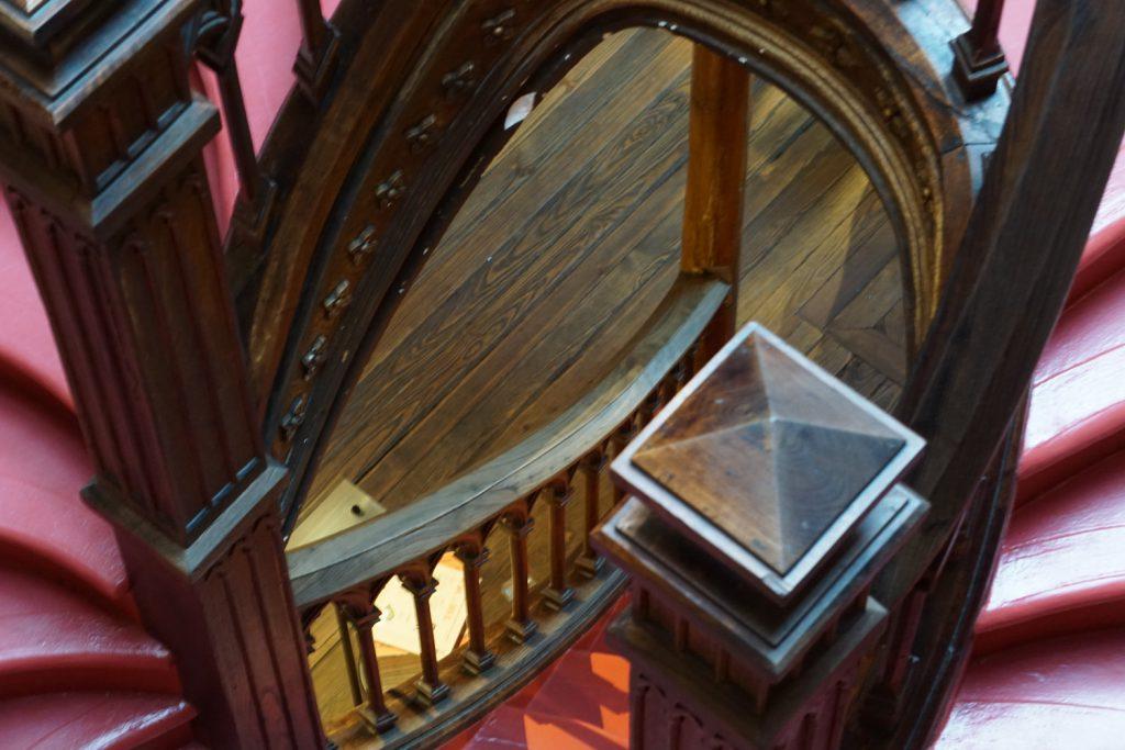 Treppe des Buchladens
