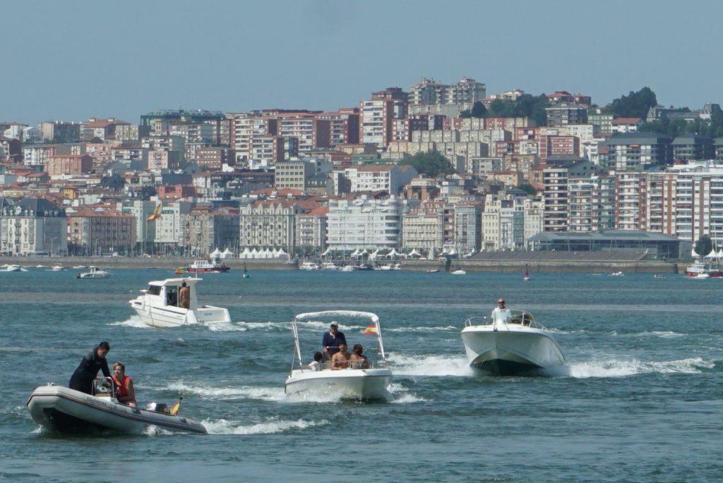 Anfahrt auf Santander