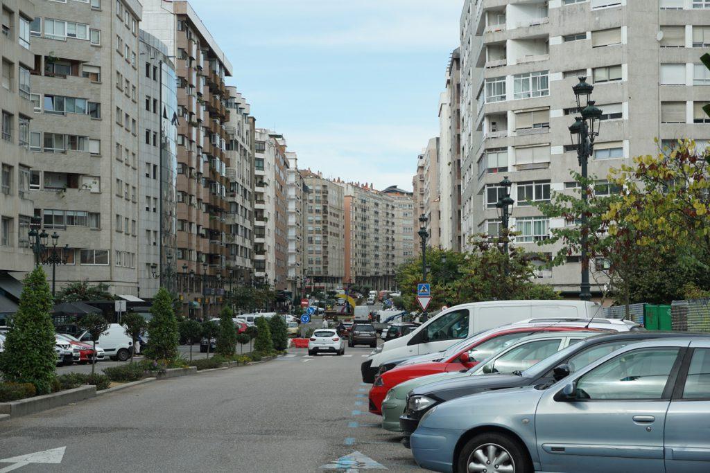Straßenschluchten in Vigo
