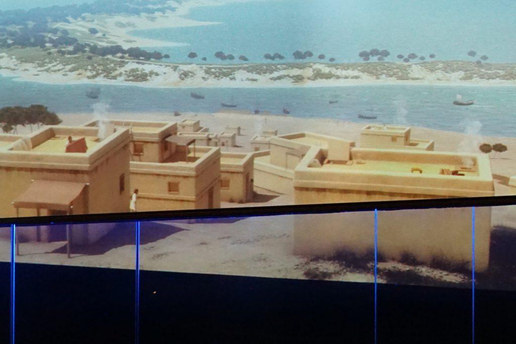 Simulation, wie die Stadt zur Zeit der Phönizier ausgesehen haben könnte