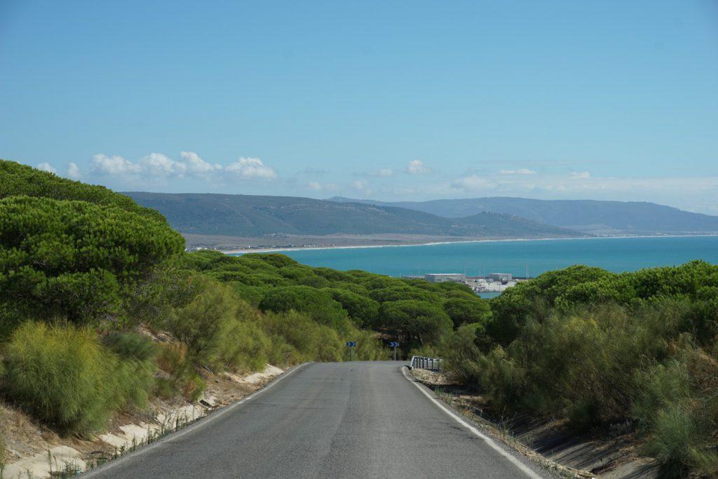 Tolle Abfahrt mit Blick auf die Küste