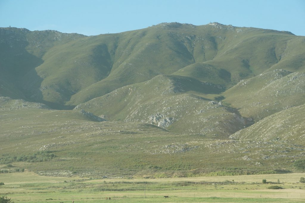 Berglandschaft auf dem Weg nach Hermanus