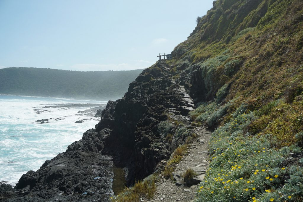Schmaler Wanderweg an der Steilküste