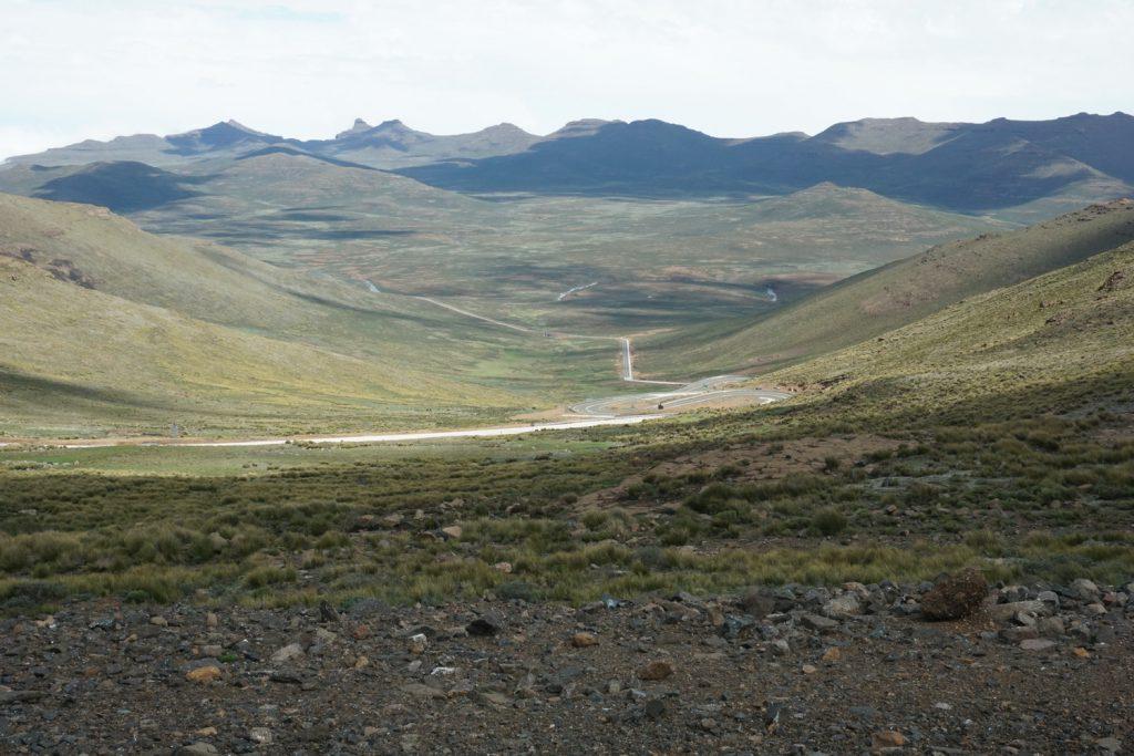 Weite Landschaft in Lesotho