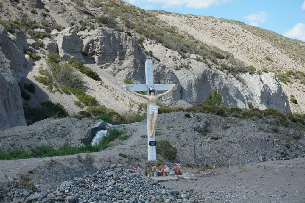 An der chilenischen Grenze, am Grenzfluss