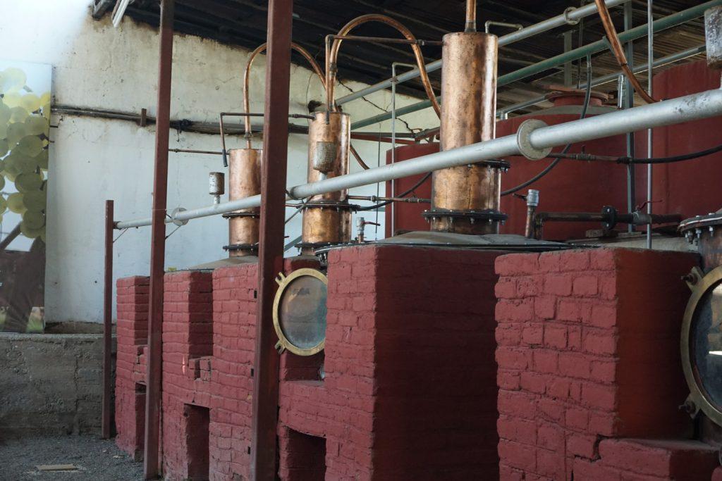 Pisco Herstellung (Destillation)