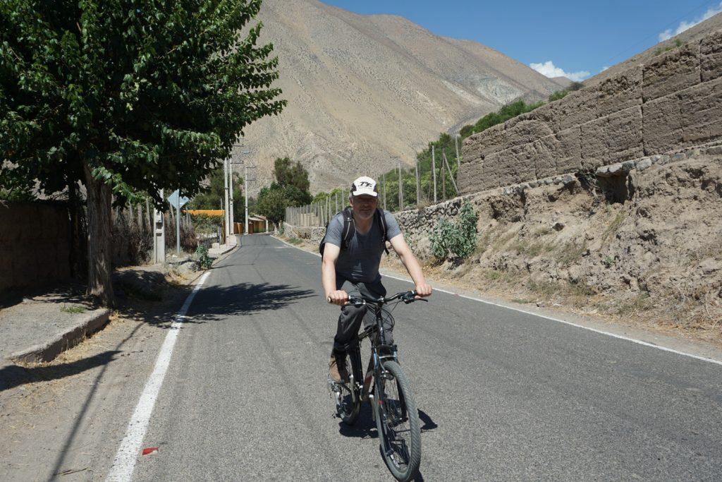 Radfahren in der heißen Sonne