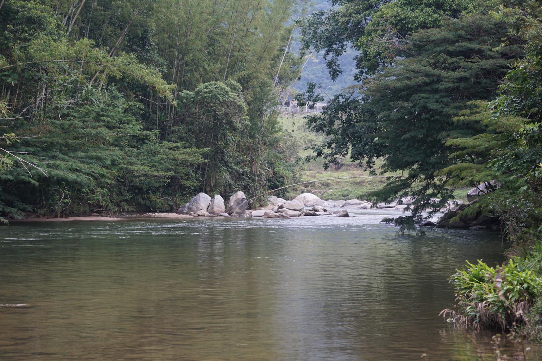 Baden im Fluss
